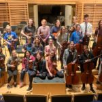 Coastal Youth Orchestra rehearsing at Studzinksi Recital Hall at Bowdoin College.